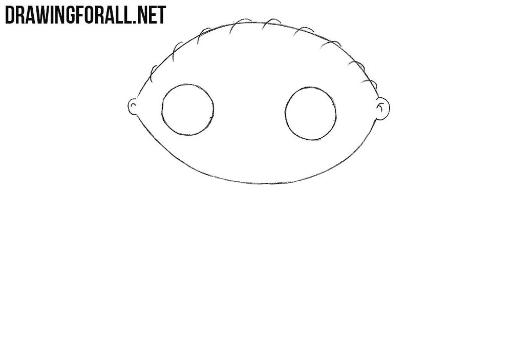 How to draw Stewie Griffin step by step