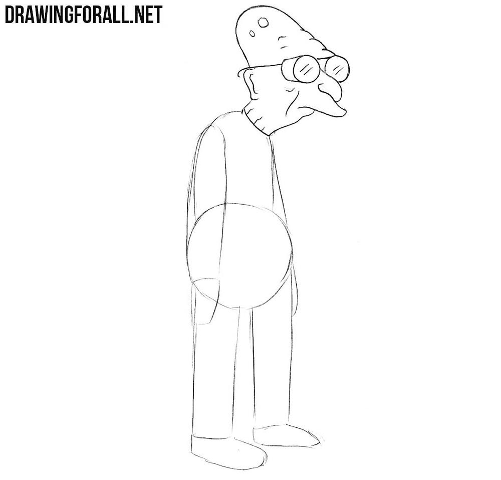 How to draw Hubert Farnsworth easy