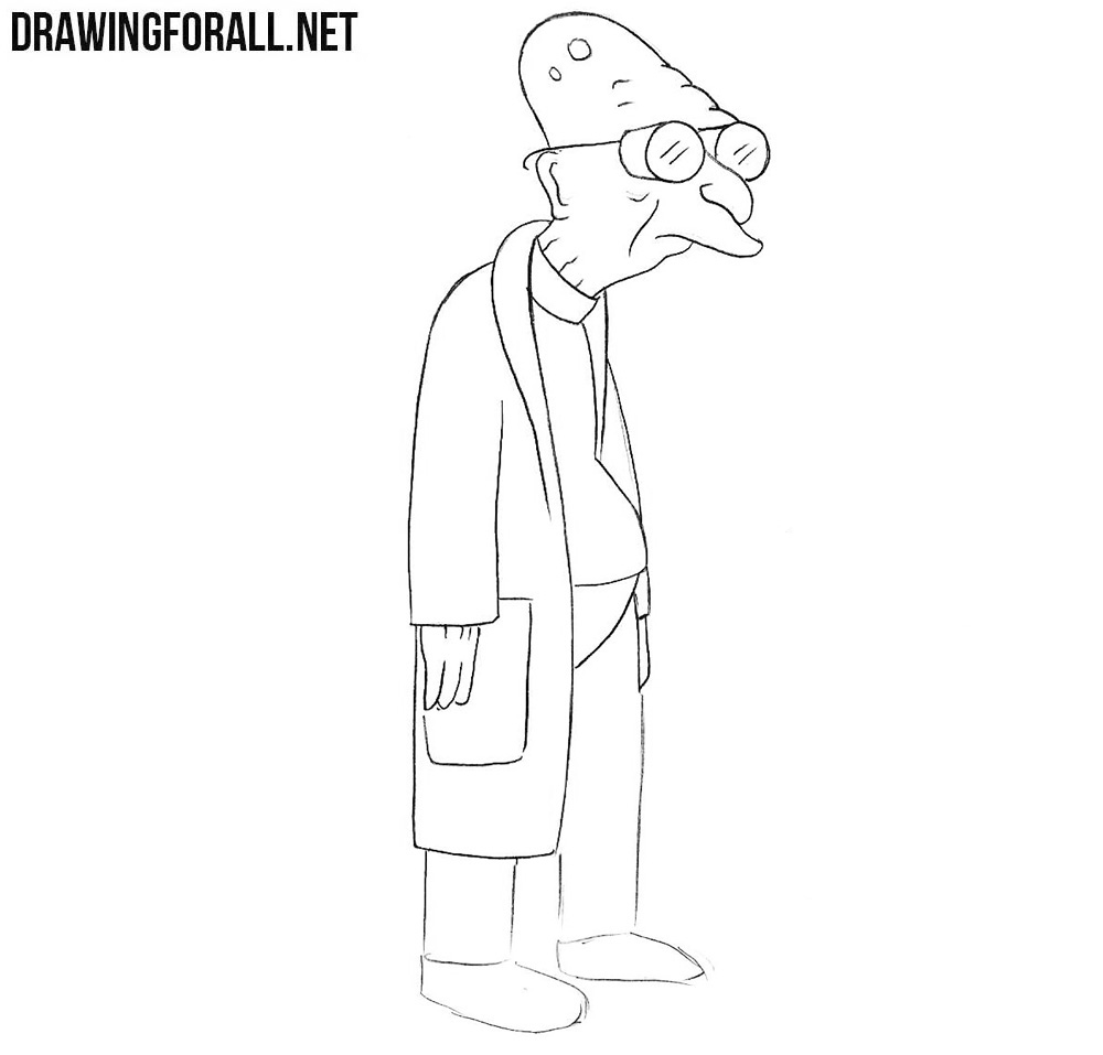 How to draw Hubert Farnsworth