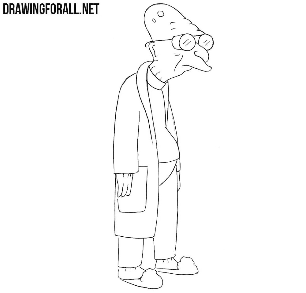 How to draw Hubert Farnsworth from Futurama