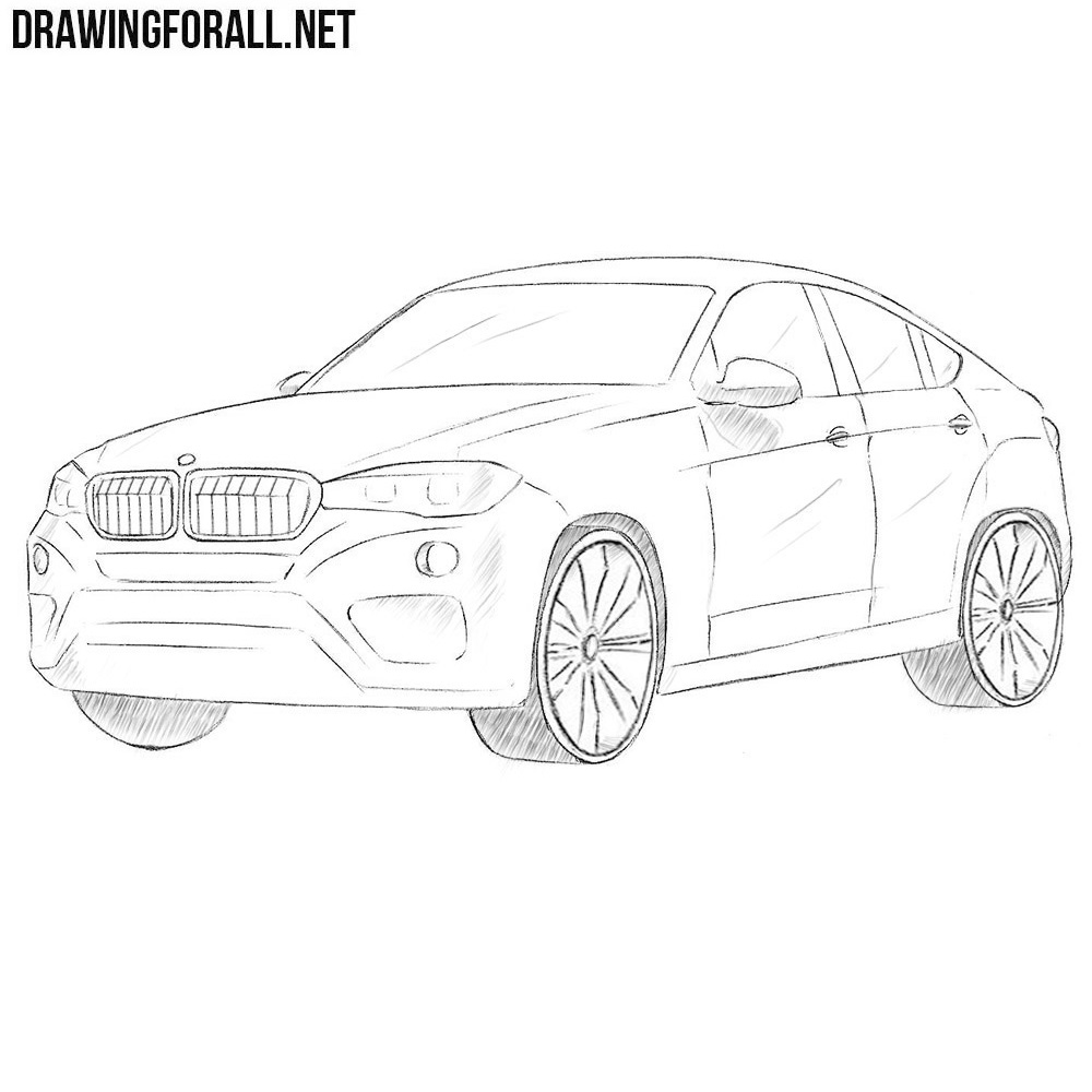 How To Draw A Bmw X6 Drawingforall Net