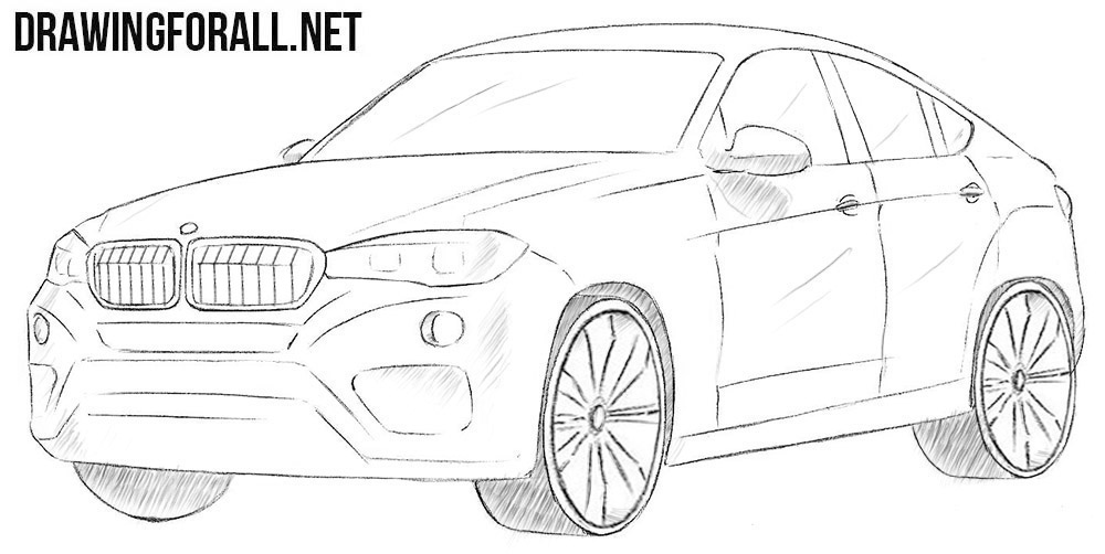 How to draw a BMW X6