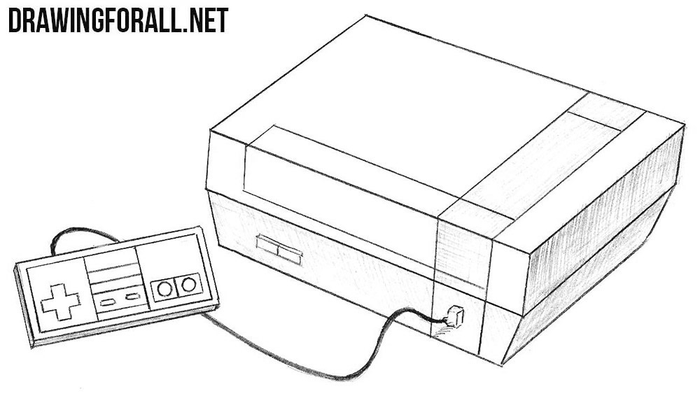 How to draw a Nintendo Entertainment System
