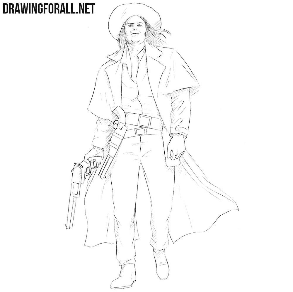 Cowboy drawing tutorial