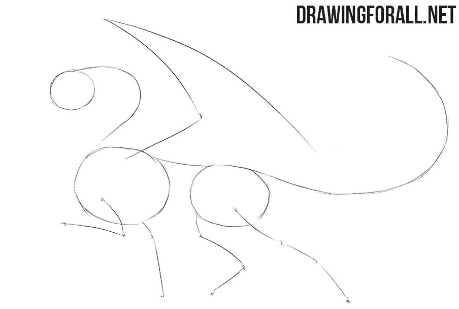 How to draw a dragon for beginners easy