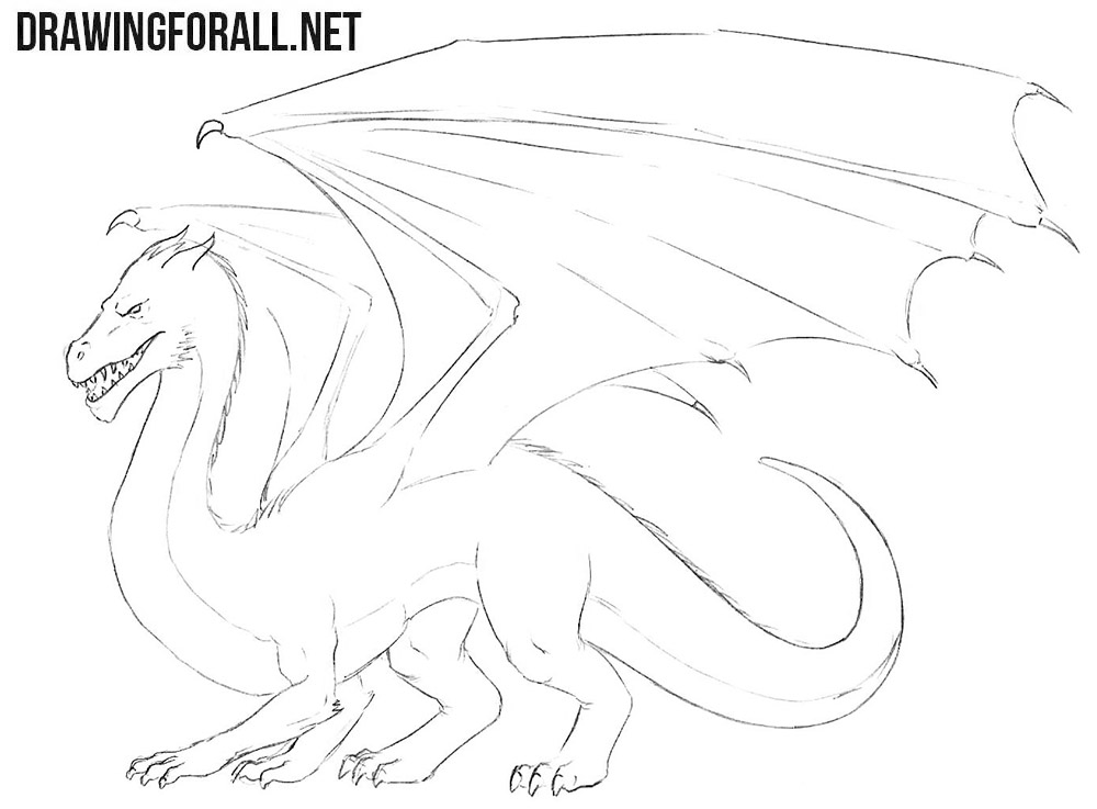 dragon easy drawing tutorial