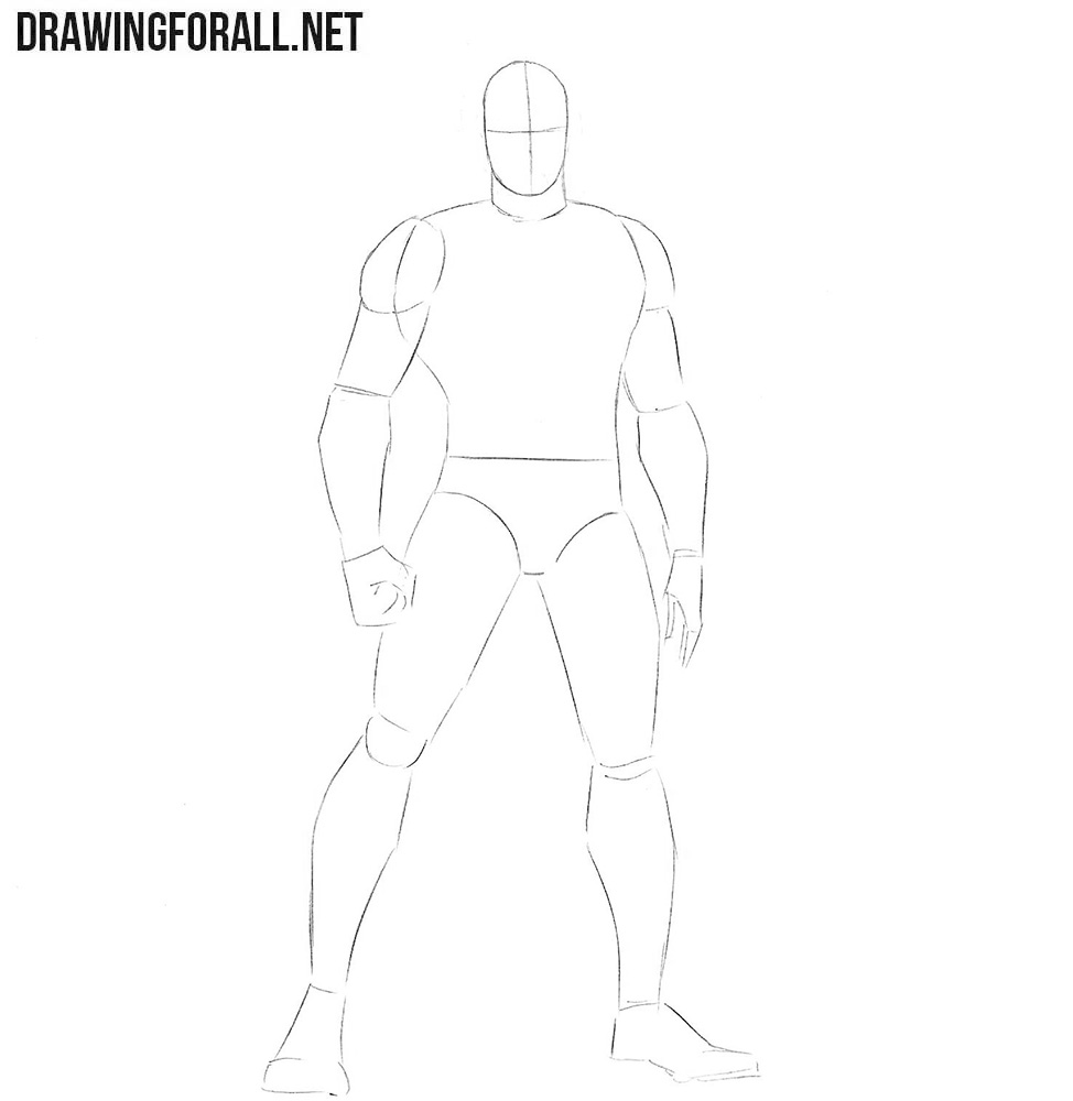 How to draw Ant-Man from the Avengers