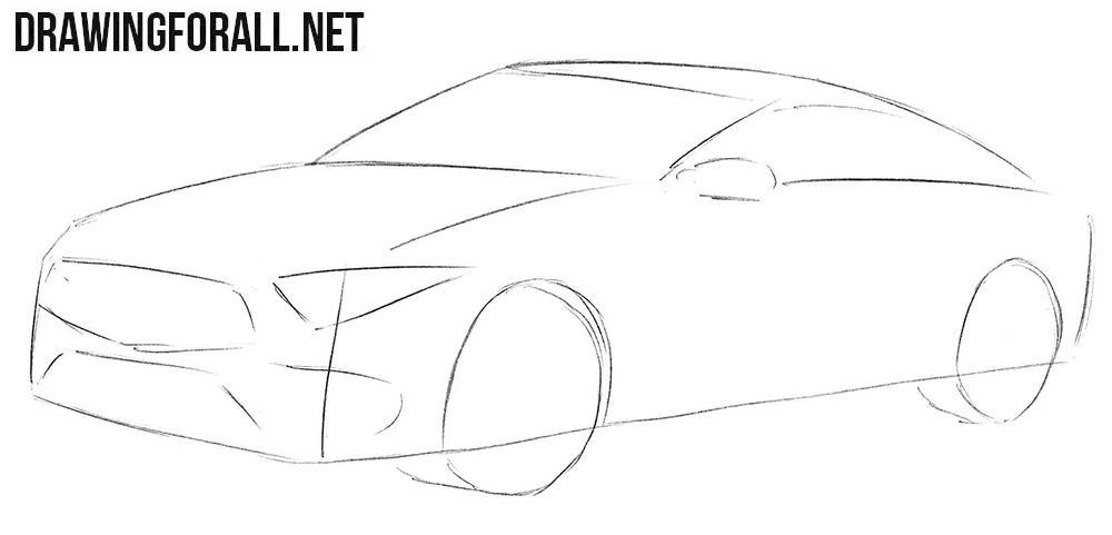 How to draw a Mercedes-Benz