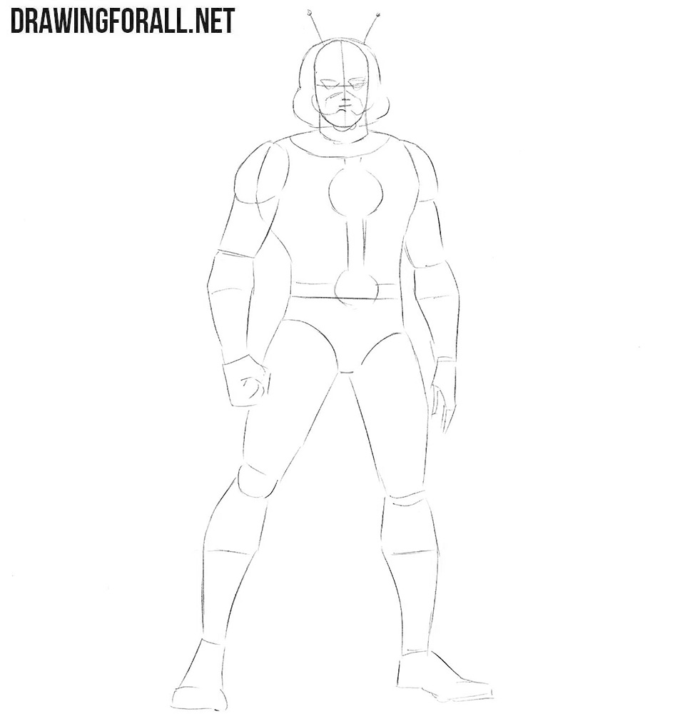 How to draw Ant-Man from comics