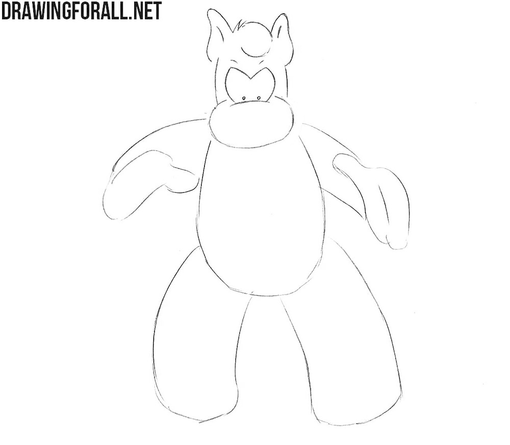 How to draw Cerebus the Aardvark step by step