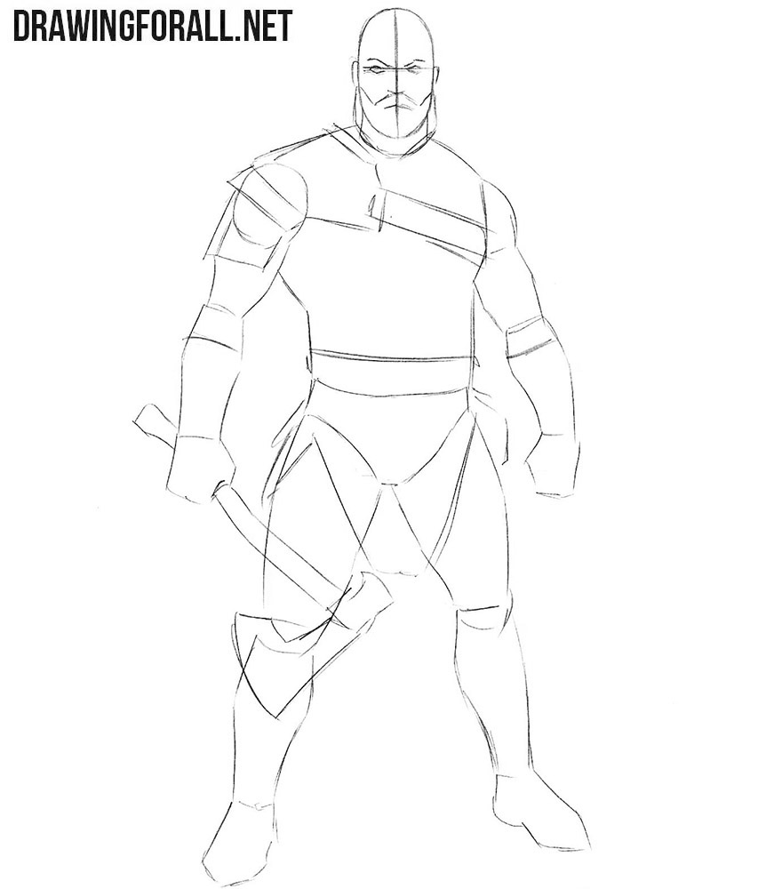 How to draw Kratos easy