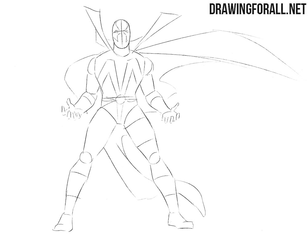 How to draw Spawn from comics