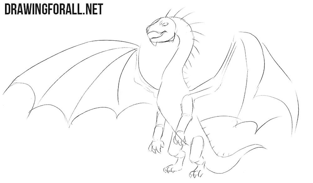 How to draw a dragon art