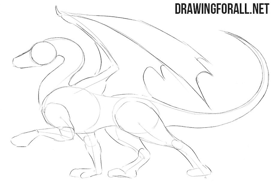 How to sketch a dragon easy step by step