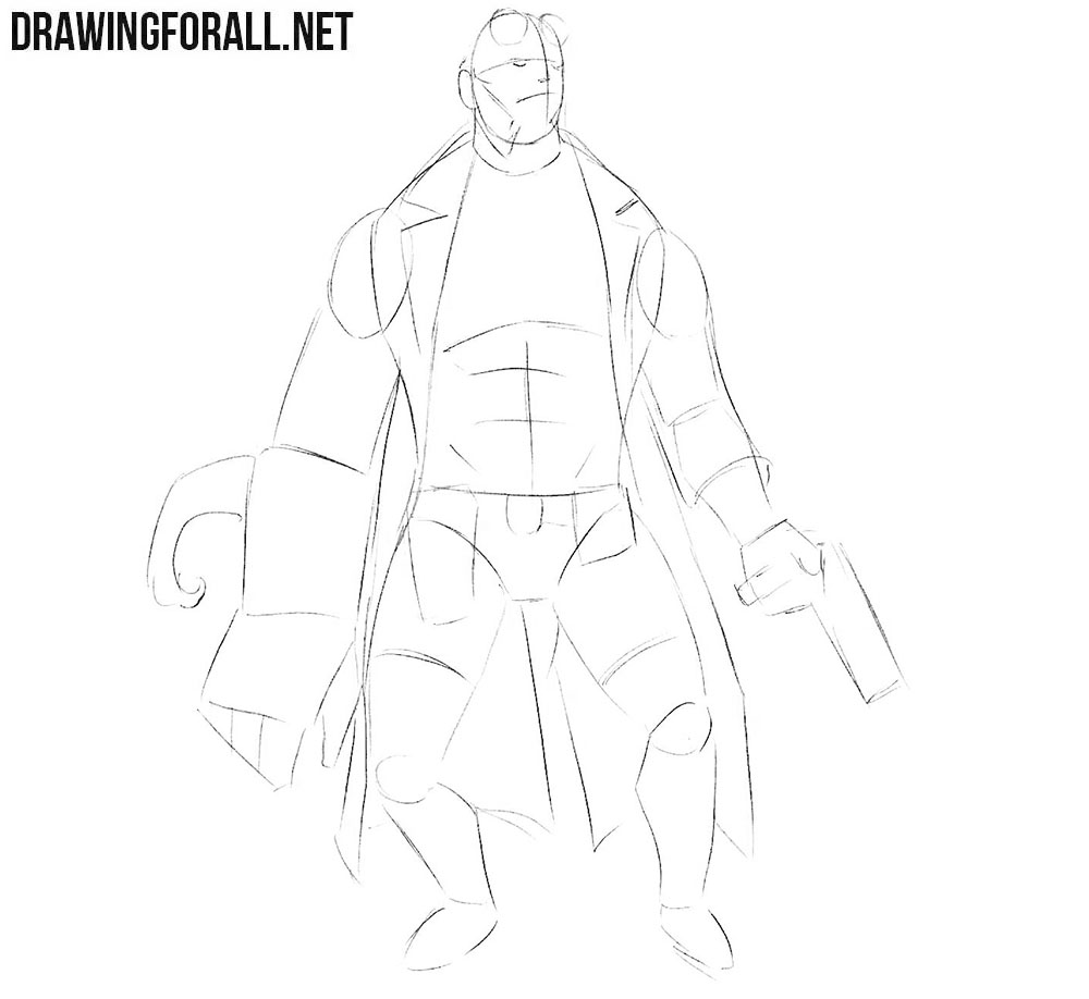 Learn how to draw Hellboy