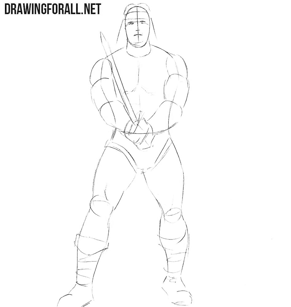 Learn to draw Conan the Barbarian