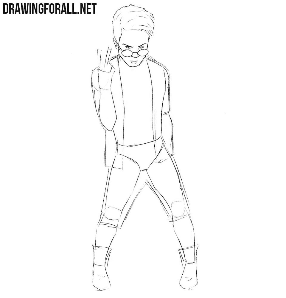 How to draw Kid Omega from x men