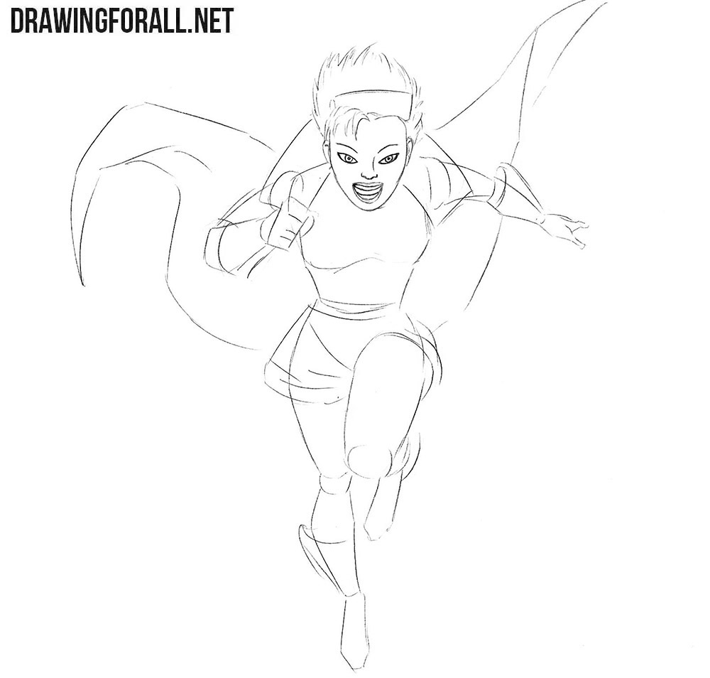 How to draw a girl super hero