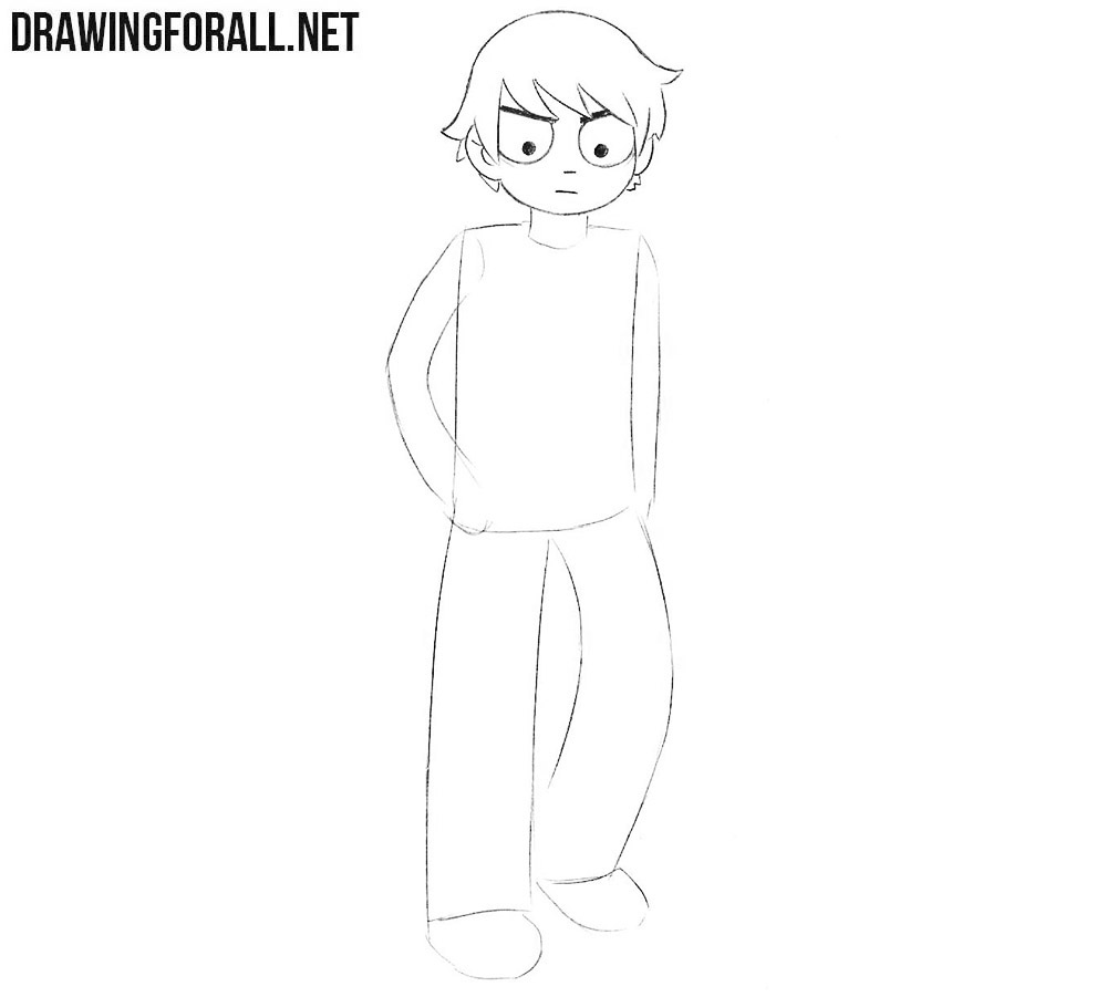 Scott Pilgrim drawing tutorial