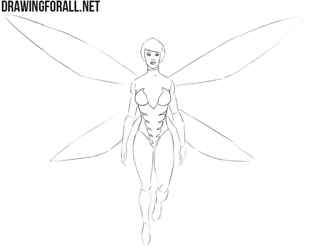 How to draw The Wasp from marvel comics