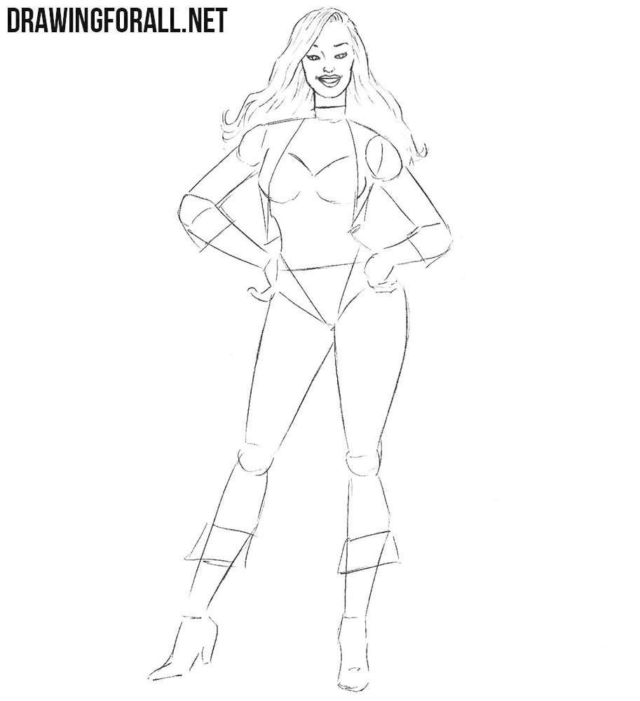 Learn how to draw Black Canary easy