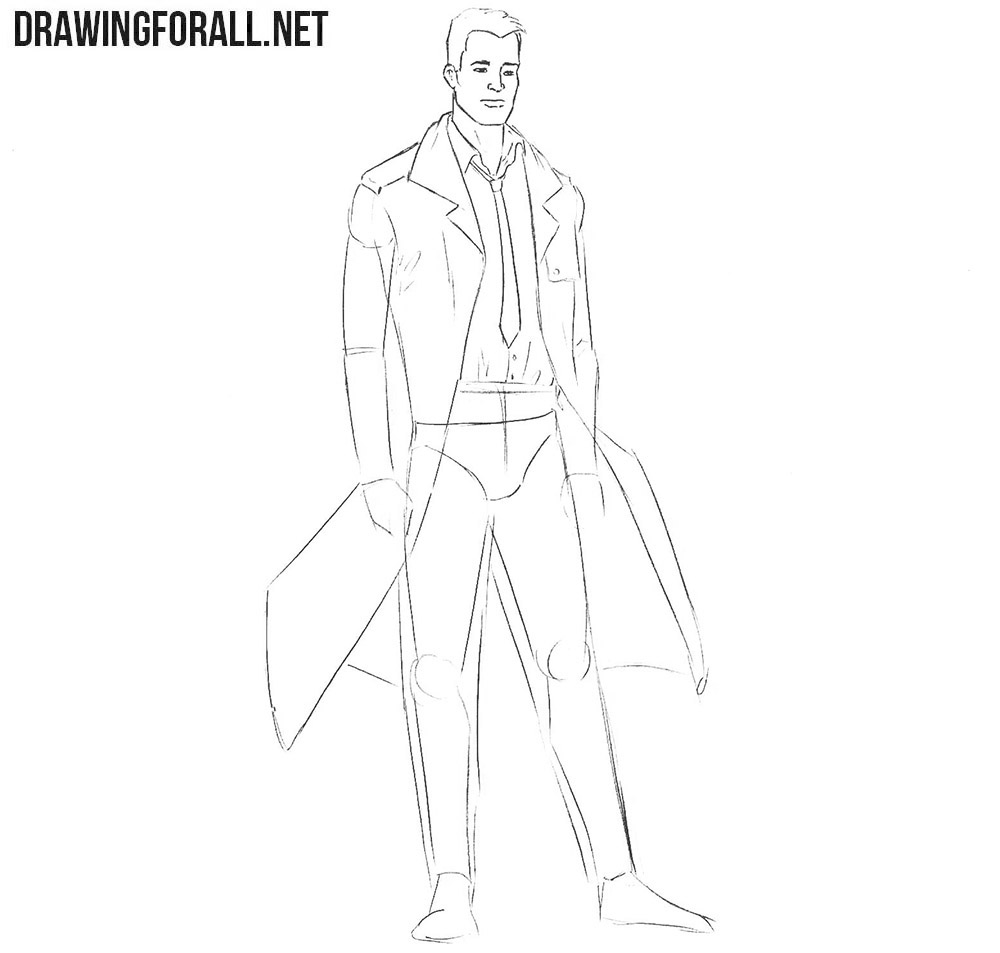 Learn how to draw Constantine step by step