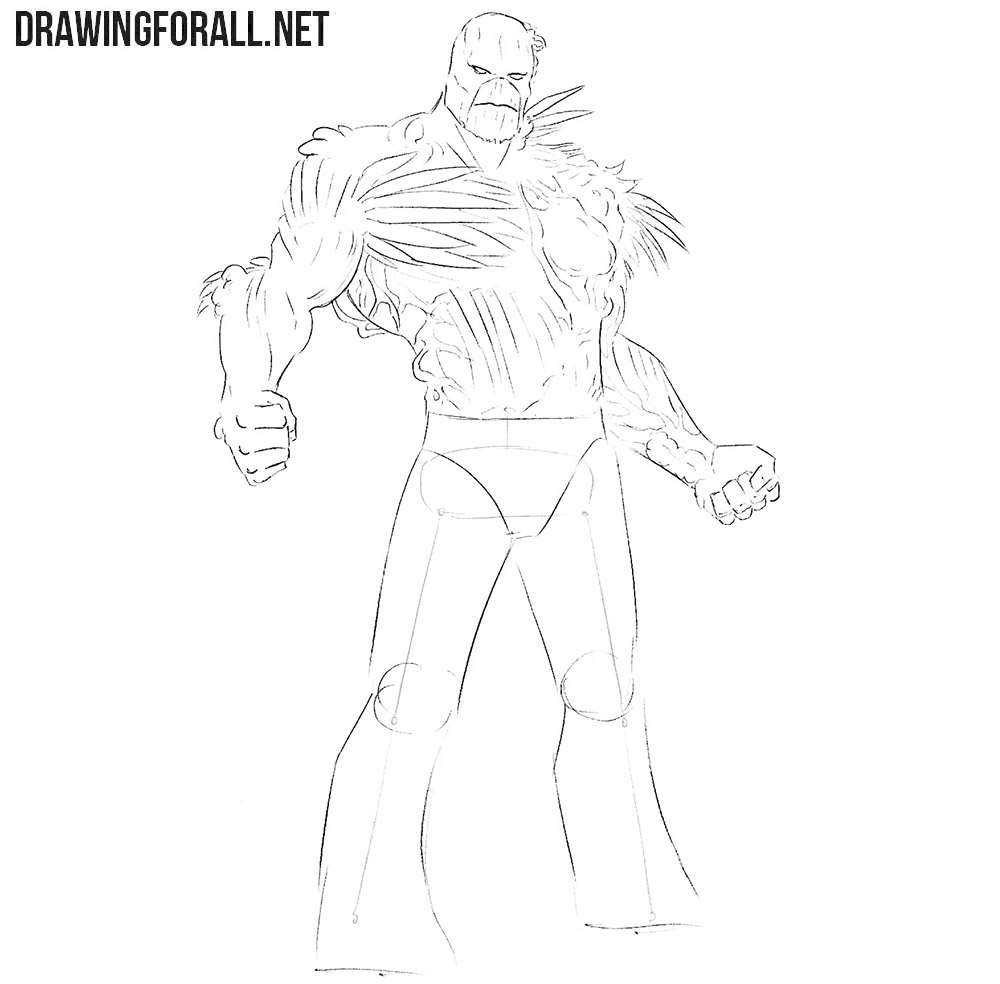 Learn how to draw the Swamp Thing step by step