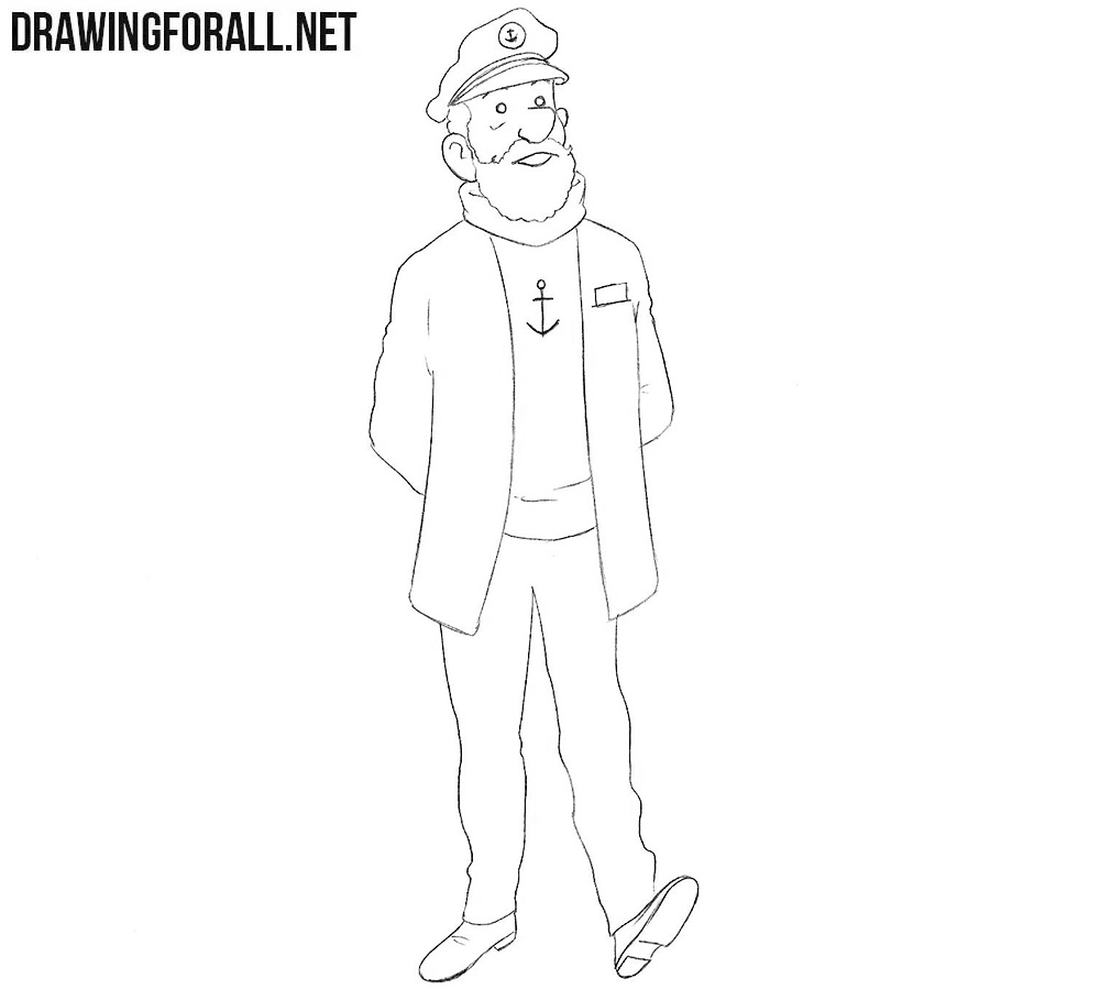 Captain Haddock drawing tutorial