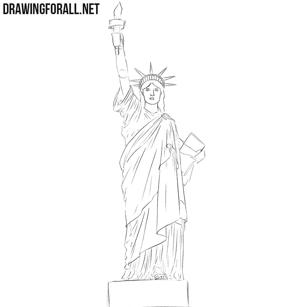 How tk sketch the Statue of Liberty