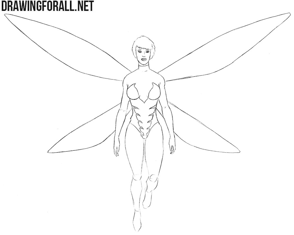 How to draw The Wasp from comics