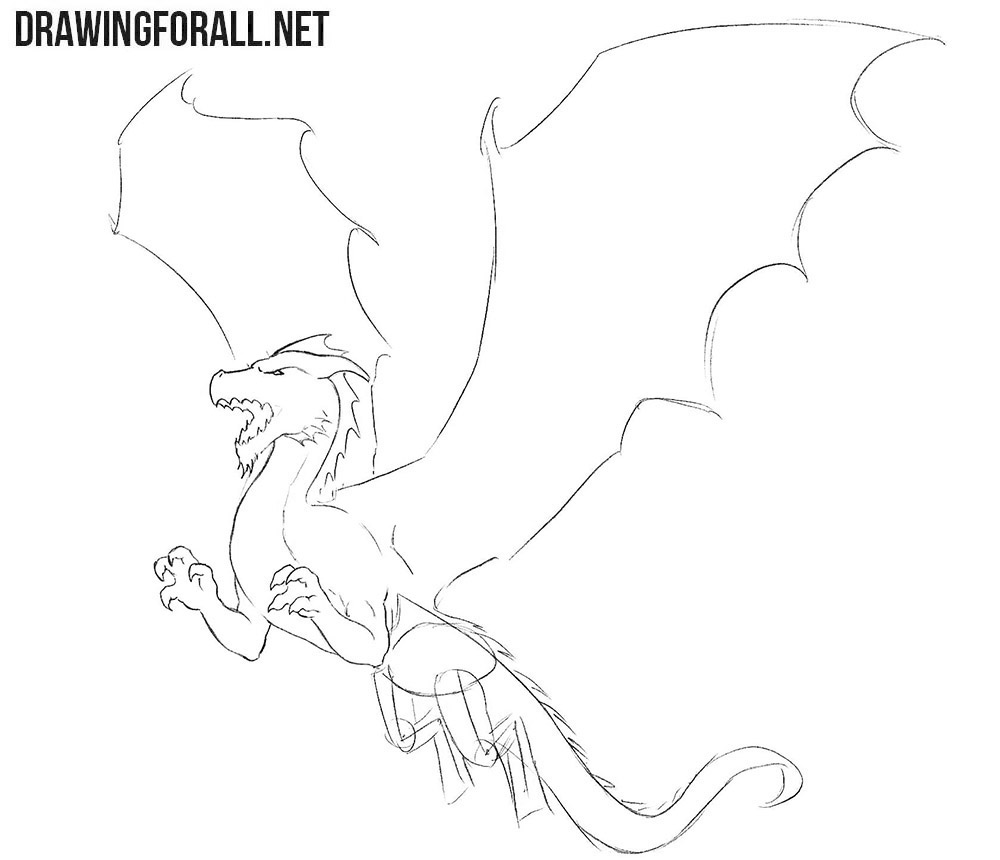 How to draw a dragon for