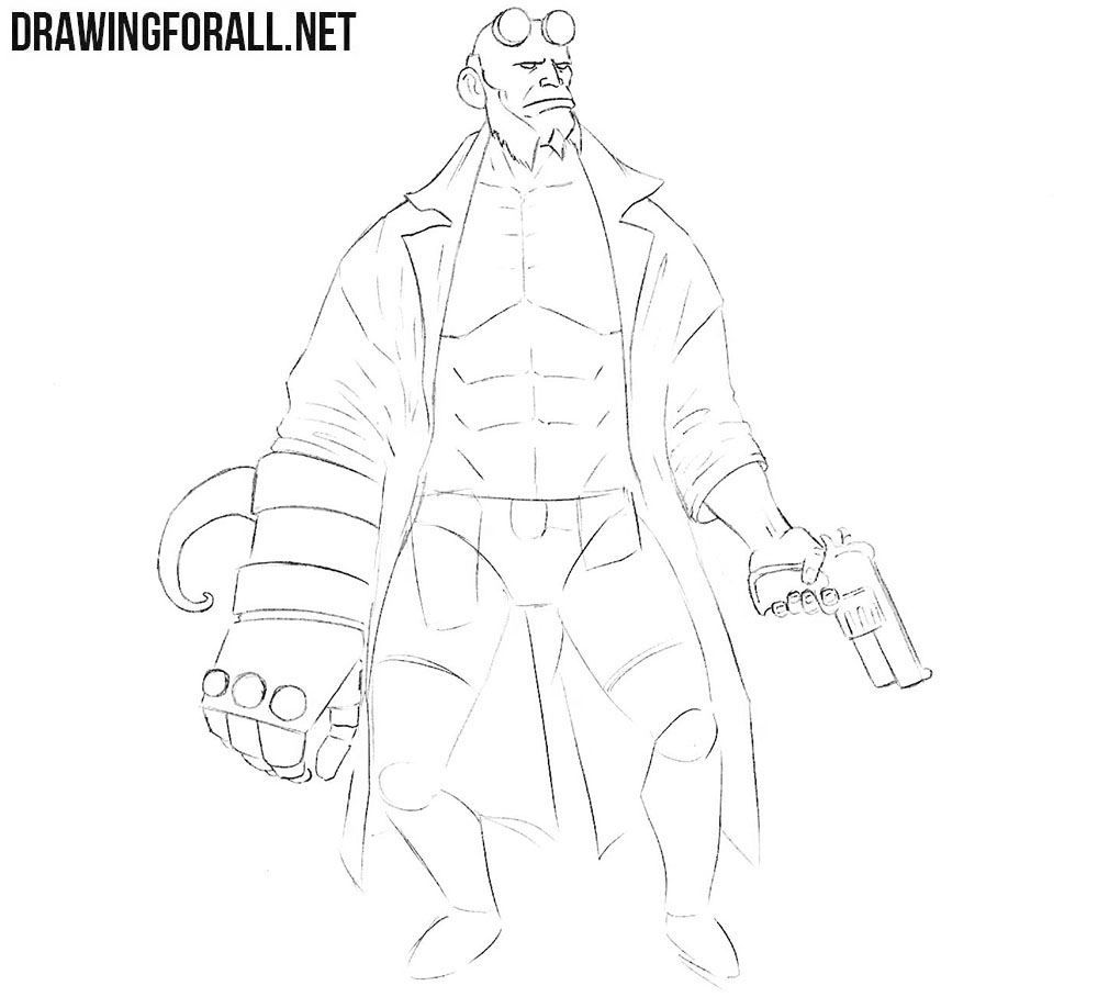 How to sketch Hellboy