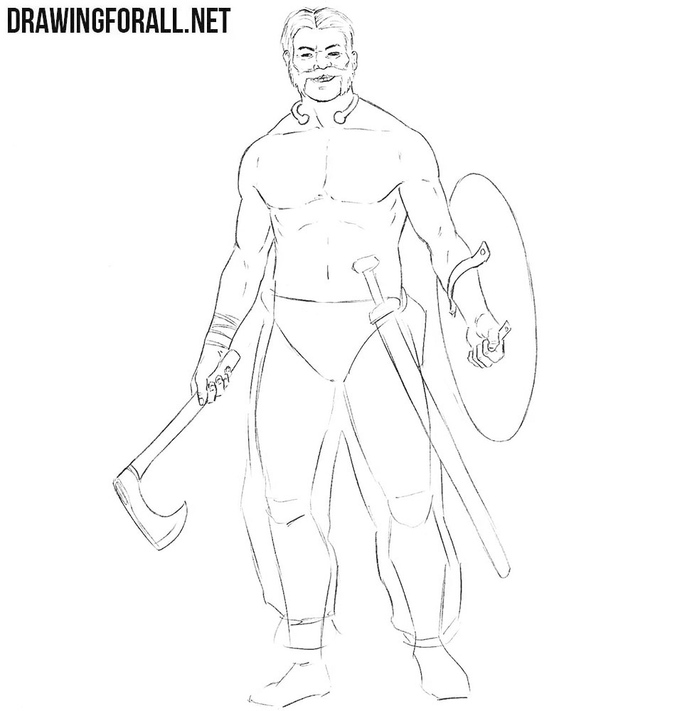 How to sketch a Celtic Warrior