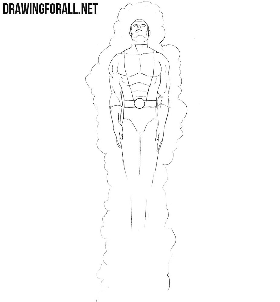 Learn how to draw Cannonball from marvel comics