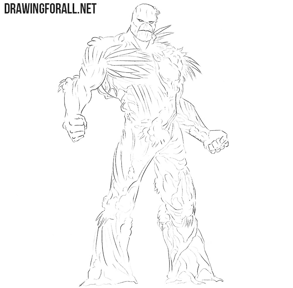 The Swamp Thing drawing tutorial