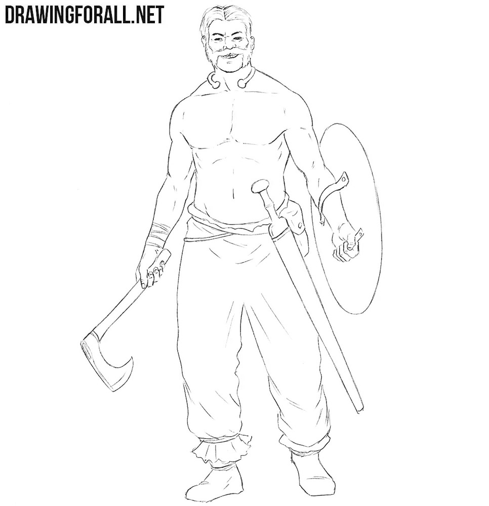Celtic Warrior drawing tutorial