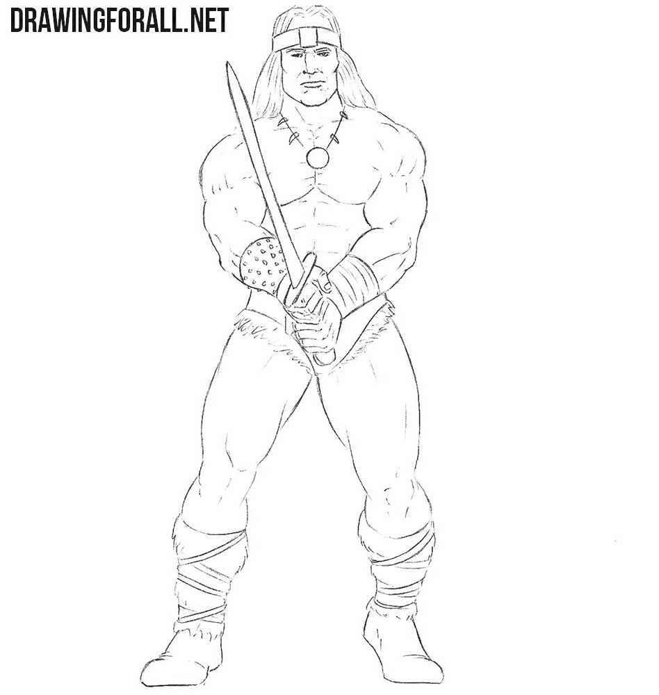 How to sketch Conan the Barbarian