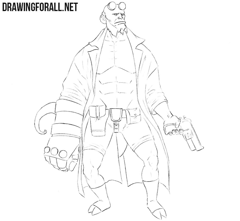 Hellboy drawing tutorial