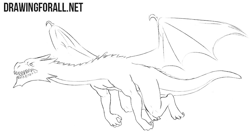 How to draw a realistic dragon