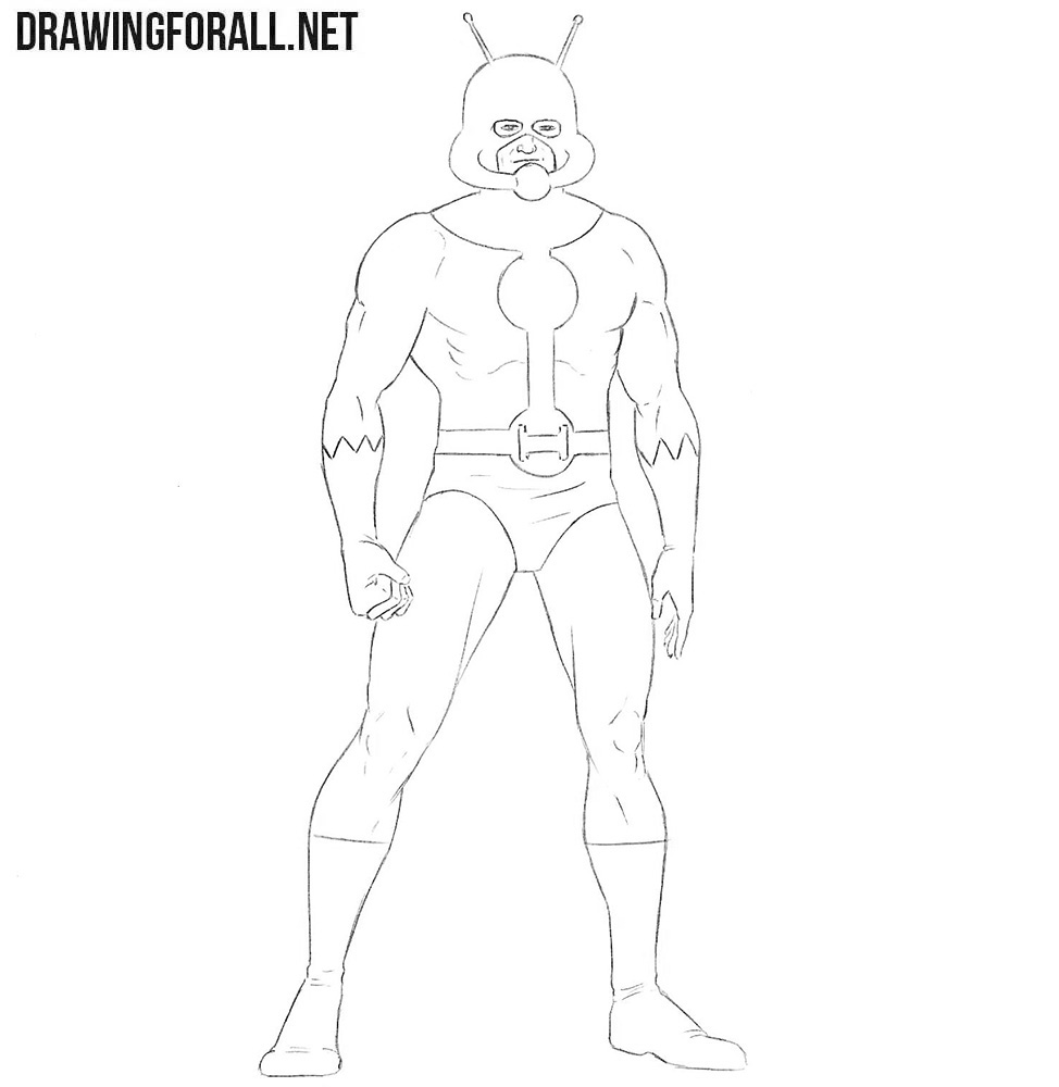 How to draw a super hero