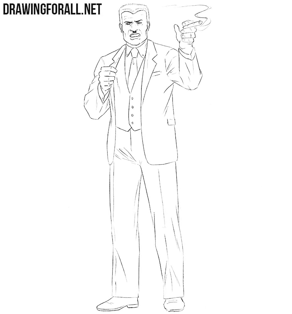 J. Jonah Jameson drawing tutorial