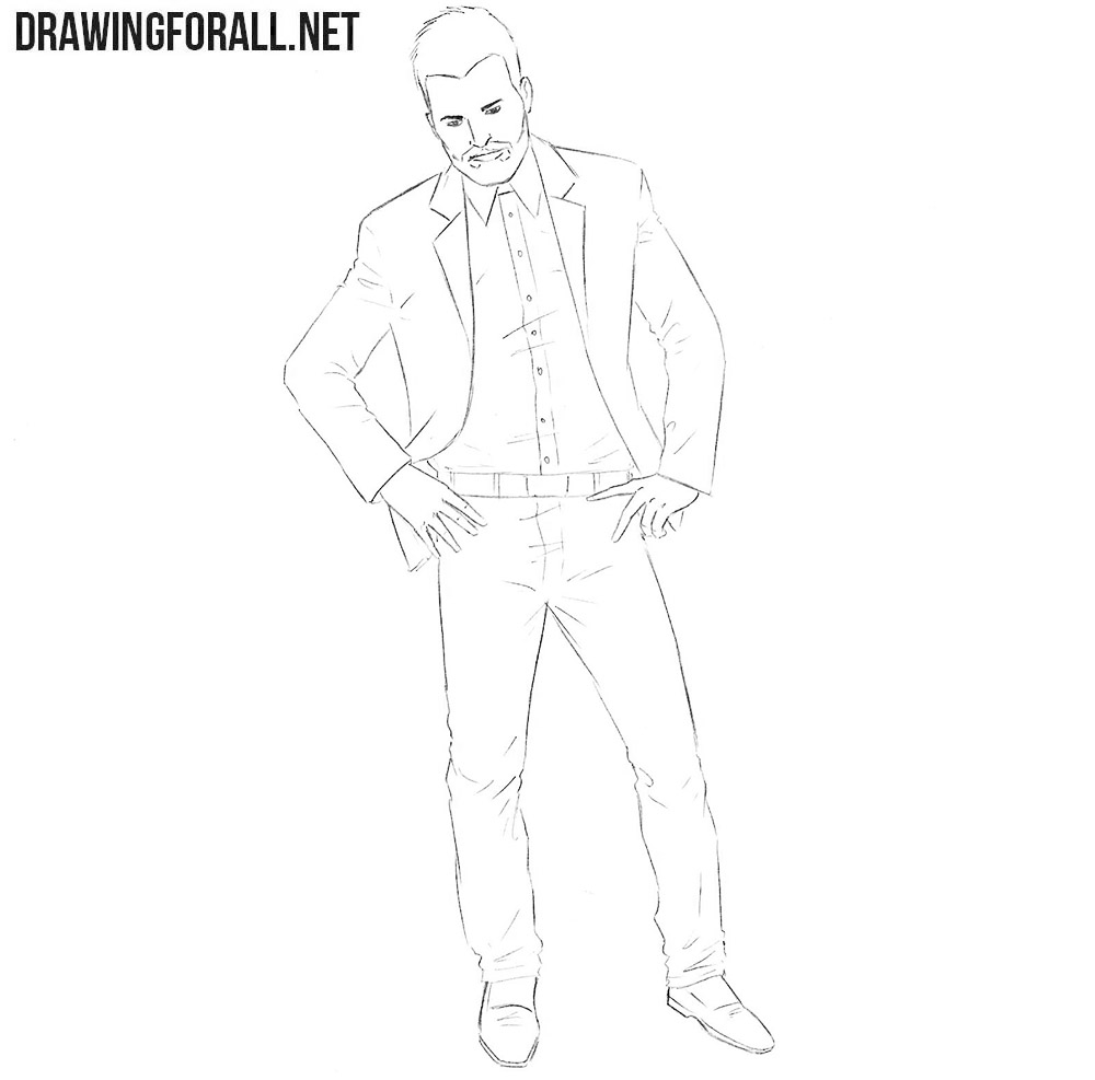 Learn how to draw Jesse Custer easy