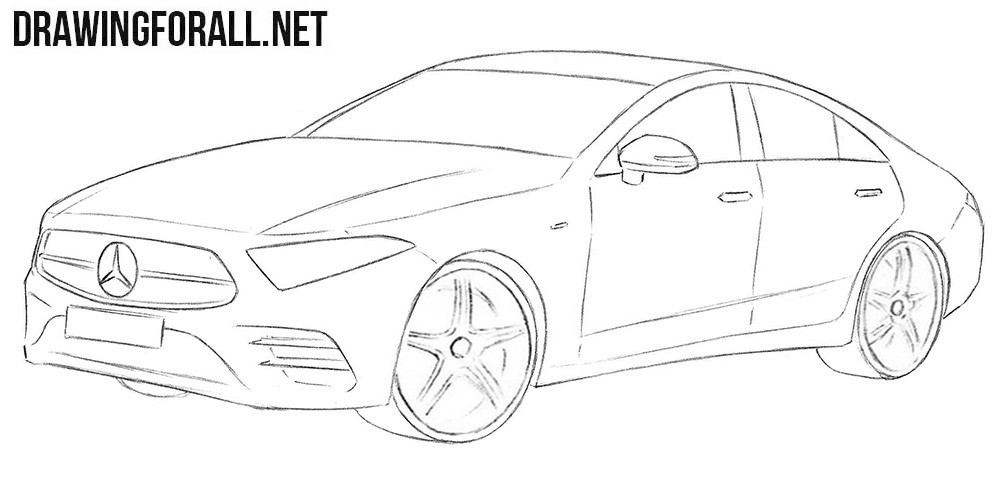 Mercedes CLS drawing tutorial
