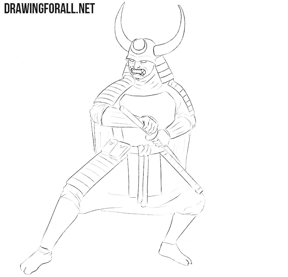 Samurai in Armor drawing lesson