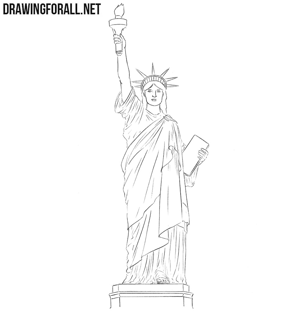 Statue of Liberty drawing tutorial