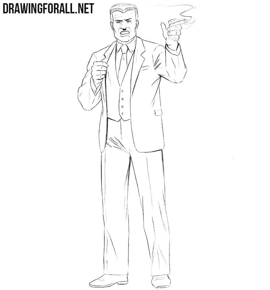 How to draw J. Jonah Jameson