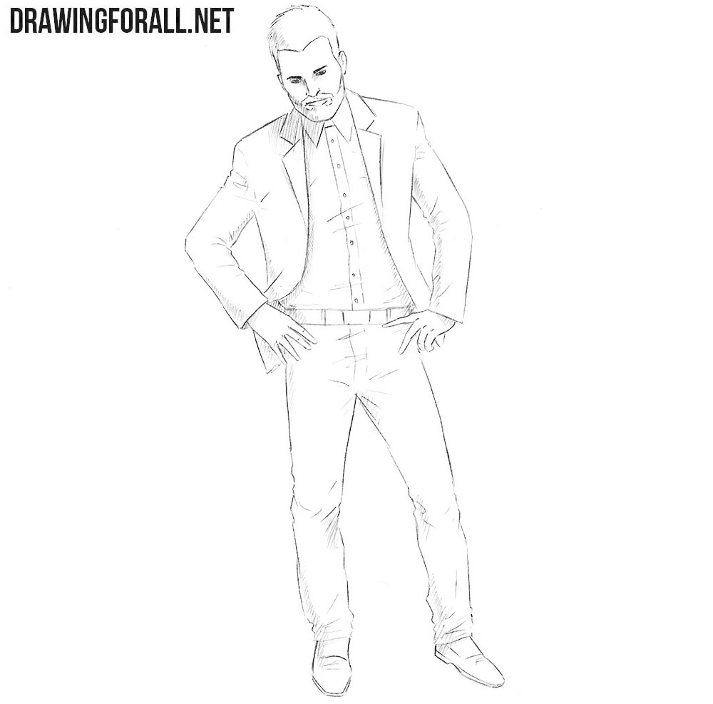 How to draw Jesse Custer step by step