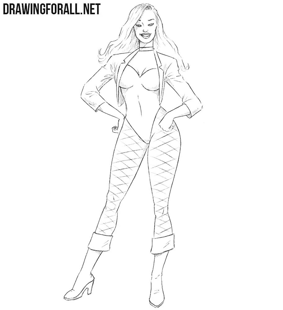 Black Canary drawing tutorial
