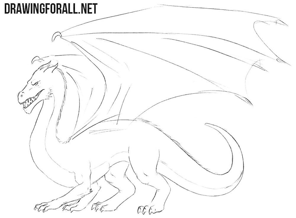 How to sketch a dragon easy