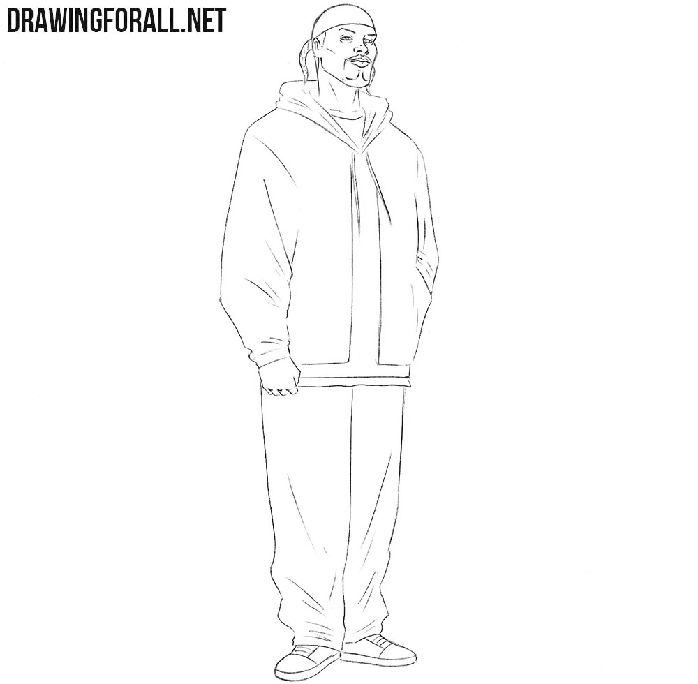 how to draw snoop dogg